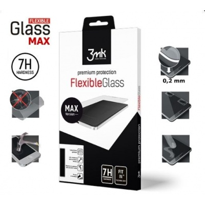 3mk hybridní sklo FlexibleGlass Max pro Apple iPhone 7, 8 Plus, bílá