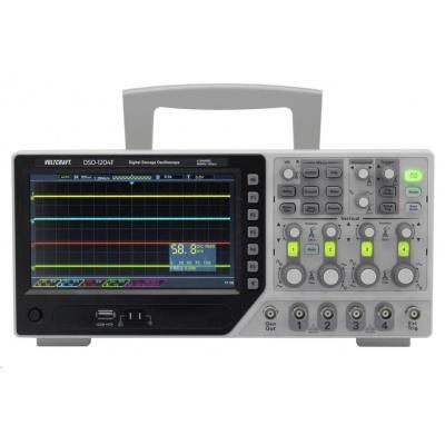 Digitální osciloskop VOLTCRAFT DSO-1204F, 200 MHz, 4kanálový, s pamětí (DSO), generátor funkcí