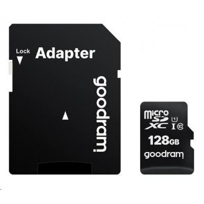 GOODRAM microSDXC karta 256GB M1AA (R:100/W:10 MB/s), UHS-I Class 10, U1 + Adapter