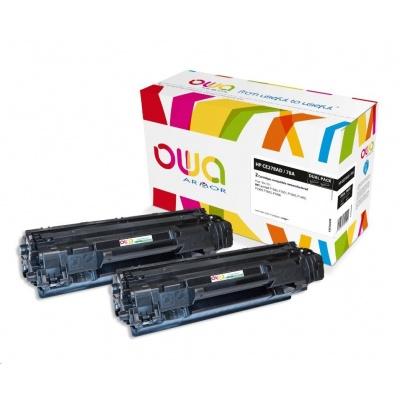 OWA Armor toner pro HP LJ P1566, 1601, 2x2100 stran, CE278AD, černá/black