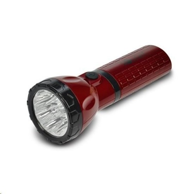 Solight nabíjecí LED svítilna, plug-in, Pb 800mAh, 9x LED, červenočerná