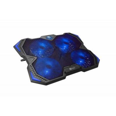 """C-TECH chladící podložka pod NTB Zefyros (GCP-01B), casual gaming, 17,3"""", modré podsvícení, regulace otáček"""