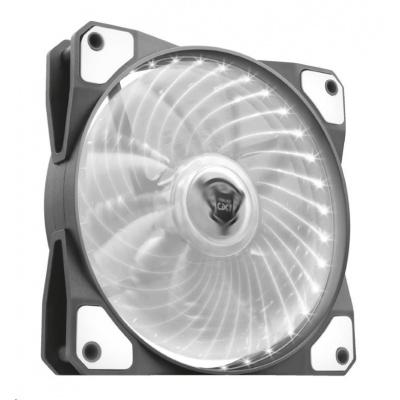 TRUST GXT 762W LED Illuminated silent PC case fan - black/white