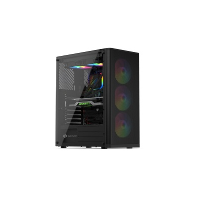 SilentiumPC skříň MidT Ventum VT2 EVO TG ARGB / ATX / 3x120mm fan ARGB / 2xUSB 3.0 / tvrzené sklo / černá