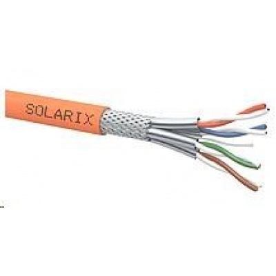 Instalační kabel Solarix SSTP, Cat8, drát, LSOH, cívka 500m SXKD-8-SSTP-LSOH