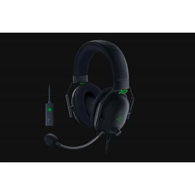 RAZER sluchátka s mikrofonem BlackShark V2, Wired Esports Headset + USB Mic Enhancer