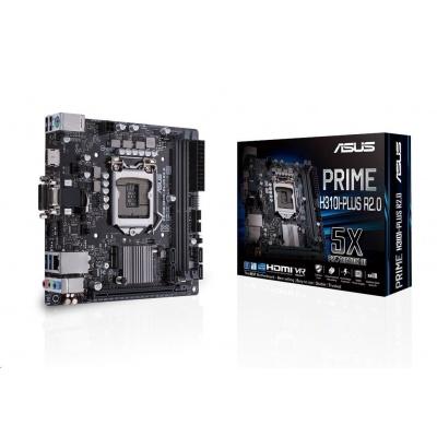 ASUS MB Sc LGA1151 PRIME H310I-PLUS R2.0, Intel H310, 2xDDR4, VGA, mini-ITX