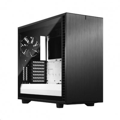 FRACTAL DESIGN skříň Define 7 Clear Tempered Glass Midi Tower, černá/bílá, bez zdroje