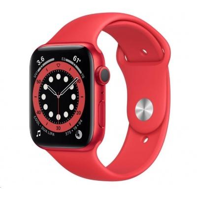 APPLE Watch Series 6 GPS, 44mm PRODUCT(RED) hliníkové pouzdro + PRODUCT(RED) sport řemínek