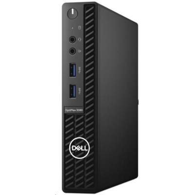 DELL PC Optiplex 3080 MFF/Core i3-10105T/8GB/256GB SSD/Integrated/TPM/WLAN + BT/Kb/Mouse/W10Pro/3Y Basic Onsite
