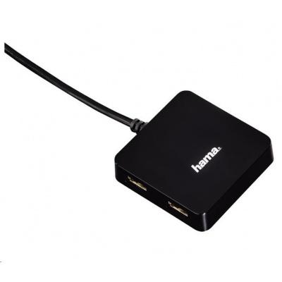 Hama USB 2.0 hub 1:4,bus-powered,čierny