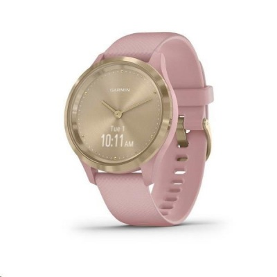 Garmin monitorovací náramek a hodinky vivomove3S Sport, sv.zlaté/růžový řemínek