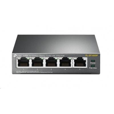TP-Link TL-SF1005P [Stolní switch s 5 porty 10/100 Mb/s, 4 porty mají PoE]