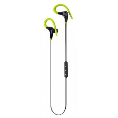 Aligator bluetooth sportovní stereo sluchátka FR301X s mikrofonem, černo-zelená