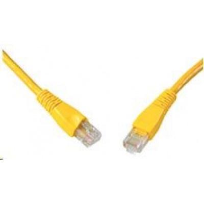 Solarix Patch kabel CAT5E UTP PVC 3m žlutý snag-proof C5E-114YE-3MB