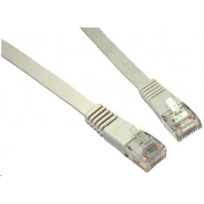 Solarix Patch kabel plochý CAT5E UTP LSOH 10m šedý non-snag-proof C5E-111GY-10MB