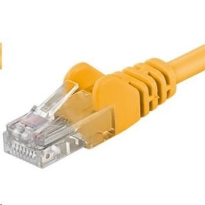 PREMIUMCORD Patch kabel UTP RJ45-RJ45 CAT5e 15m žlutá
