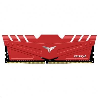 DIMM DDR4 16GB 3600MHz, CL18, (KIT 2x8GB), T-FORCE DARK Z, Red