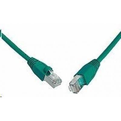 Solarix Patch kabel CAT5E SFTP PVC 1m zelený snag-proof C5E-315GR-1MB