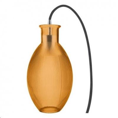 LEDVANCE VINTAGE 1906 CARVED TABLE GRAPE Glass, Orange