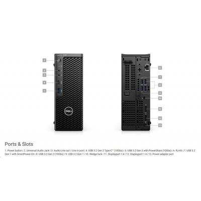 DELL PC Precision 3240/Core i7-10700/16GB/512GB SSD/Quadro P620/TPM/Kb/Mouse/W10Pro/vPro/3YPS