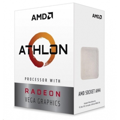 CPU AMD Athlon 240GE (Raven Ridge), 2-core, 3.5GHz, 5MB cache, 35W, socket AM4, VGA RX Vega, BOX