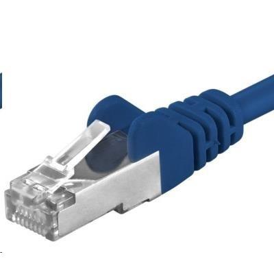 PREMIUMCORD Patch kabel CAT6a S-FTP, RJ45-RJ45, AWG 26/7 5m modrá