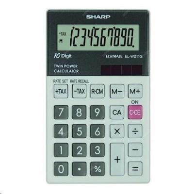 SHARP kalkulačka - ELW211GGY - gift box