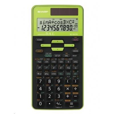 SHARP kalkulačka - EL531TGGR - zelená - box - Solární + baterie