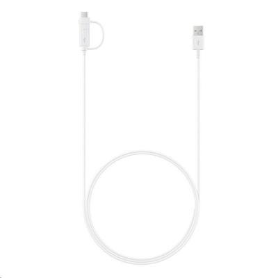 Samsung datový kabel EP-DG930DWE Combo, USB->USB-C/micro USB, 1,5 m, bílá (bulk)
