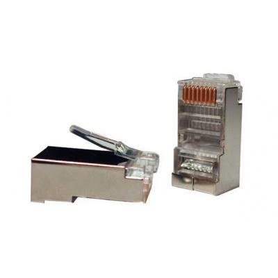 Konektor STP RJ45 (8p8c), Cat5E, 50µm, drát - 100 ks