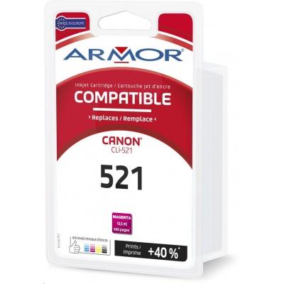 ARMOR ink-jet pre CANON IP3600, 4600, 4600X,MP540, 620 ,630, 980, MX860, 665 strán, CLi521M, červená/magenta (Cli-521M)
