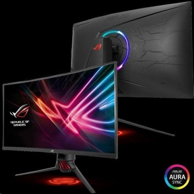 "ASUS LCD 31.5"" XG32VQR 2560x1440 ROG STRIX Curved  VA 144Hz 125% sRGB DP HDMI DisplayHDR 400 FreeSync 2 HDR AuraSync"