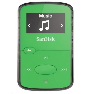SanDisk Clip JAM MP3 Player 8GB, Bright Green