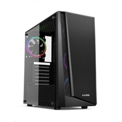 1stCOOL skříň RAINBOW 3, Midi Tower, AU, USB 3.0, bez zdroje, Black
