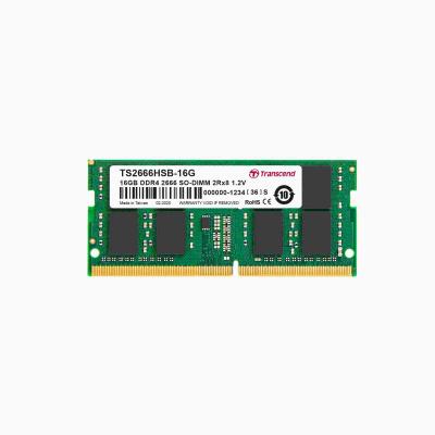 SODIMM DDR4 16GB 2666MHz TRANSCEND 2Rx8 1Gx8 CL19 1.2V