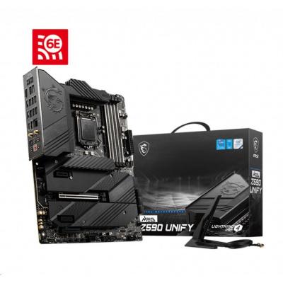 MSI MB Sc LGA1200 MEG Z590 UNIFY, Intel Z590, 4xDDR4, 1xHDMI, WI-FI
