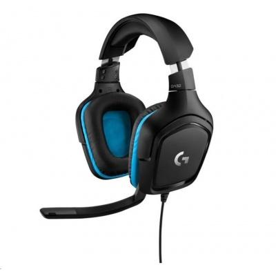 Logitech herní sluchátka G432 7.1 Wired