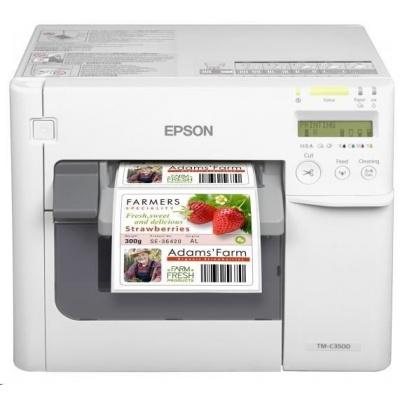 Epson ColorWorks C3500 Label Club Bundle 05, cutter, disp., USB, Ethernet, NiceLabel, white
