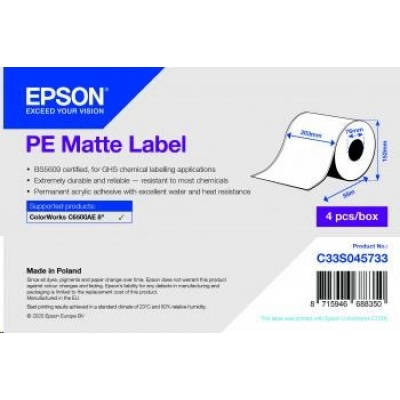 Epson label roll, synthetic