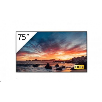 """SONY 75"""" 4K HDR Professional BRAVIA, 18/7, 500 cd/m2, landscape / portrait, Android 9, X1 processor, IP control + tuner"""