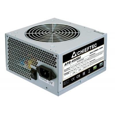 CHIEFTEC zdroj Value, APB-400B8, 400W, ATX-12V V.2.3 , PS-2 type with 12cm Fan, Active PFC, 230V
