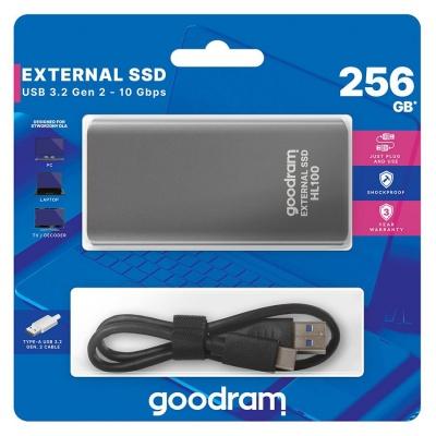 GOODRAM externí SSD HL100, USB-C, 256GB
