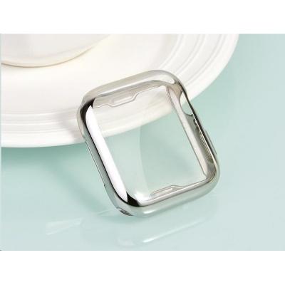 COTEetCI celoplošné ochranné termoplastové pouzdro pro Apple Watch 44 mm stříbrné