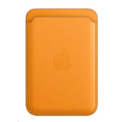 APPLE iPhone kožená peněženka s MagSafe - California Poppy