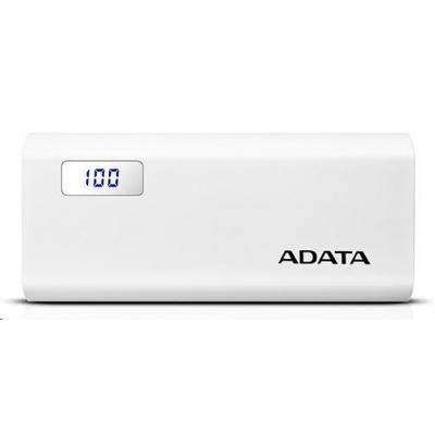 ADATA PowerBank P12500D - externí baterie pro mobil/tablet 12500mAh, 2,1A, bílá