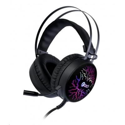 C-TECH Herní sluchátka Astro (GHS-16), casual gaming, LED, 7 barev podsvícení