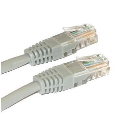 Patch kabel Cat6, UTP - 10m, šedý
