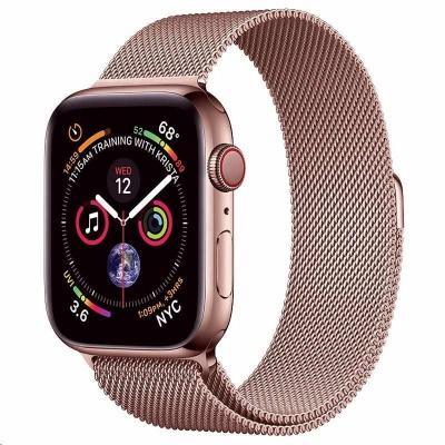 COTEetCI ocelový magnetický řemínek pro Apple Watch 42 / 44mm růžově-zlatý