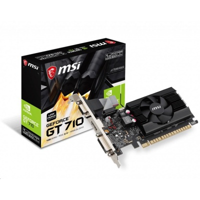 MSI VGA NVIDIA GeForce GT 710 1GD3 LP, GT710, GDDR3 1GB, DVI-I,HDMI,LP